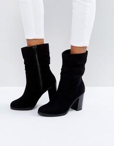 Полусапожки на каблуке New Look - Черный