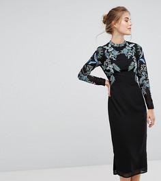 Платье с длинными рукавами и декоративной отделкой Hope & Ivy - Мульти