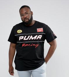 Футболка с принтом на спине Puma PLUS Speedway эксклюзивно для ASOS 57659501 - Черный