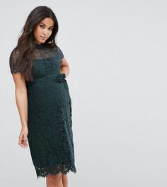 Кружевное облегающее платье Mamalicious - Зеленый Mama.Licious