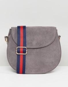 Серая сумка из искусственной замши Glamorous - Серый