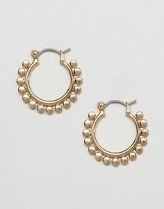 Серьги-кольца с отделкой ASOS - Золотой
