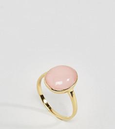Кольцо из позолоченного серебра с искусственным кварцем ASOS - Золотой