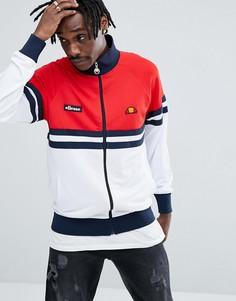 Спортивная куртка в стиле колор блок Ellesse - Красный