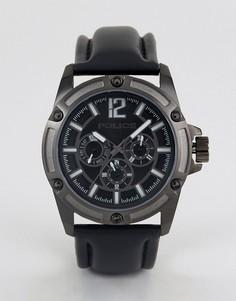 Кварцевые часы с черным циферблатом Police - Черный