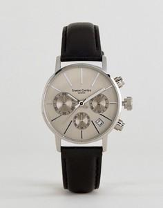 Часы с кожаным ремешком и хронографом Simon Carter LT001 - Черный