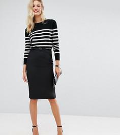 Удлиненная юбка-карандаш с поясом ASOS TALL - Черный