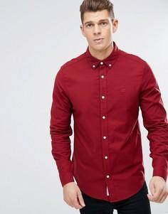 Красная оксфодская рубашка слим Original Penguin - Красный
