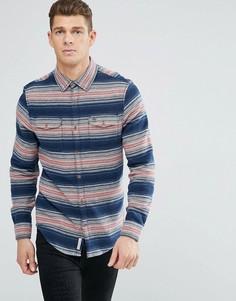 Узкая рубашка навыпуск в темно-синюю полоску Original Penguin - Темно-синий