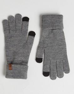Серые трикотажные перчатки для сенсорных гаджетов Timberland Magic - Серый