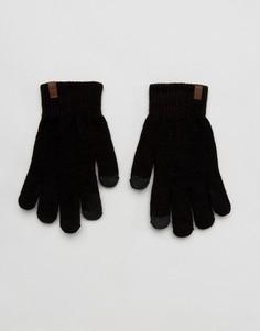 Черные трикотажные перчатки для сенсорных гаджетов Timberland Magic - Черный