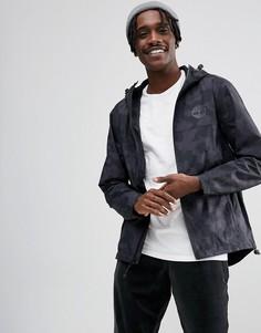 Черная куртка на молнии с камуфляжным принтом и капюшоном Timberland - Черный