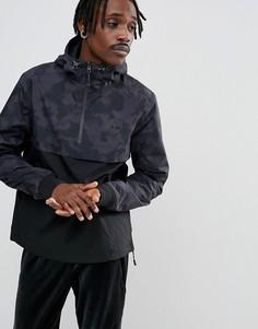 2-цветная куртка с капюшоном (черный/камуфляжный принт) Timberland - Черный