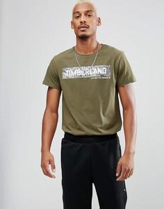 Зеленая футболка с логотипом Timberland - Зеленый