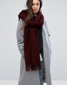 Шерстяной шарф Weekday - Красный