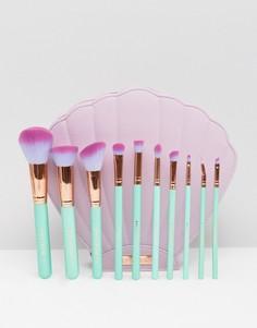 Набор из 10 кистей для макияжа Spectrum The Glam Clam - Бесцветный