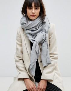 Мягкий легкий шарф из вискозы ASOS - Серый