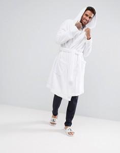 Базовый флисовый халат ASOS - Белый