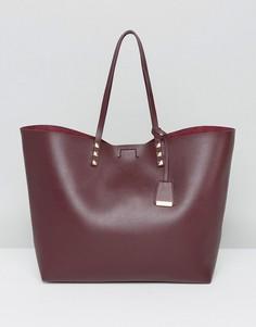 Бордовая сумка-тоут с заклепками Glamorous - Красный