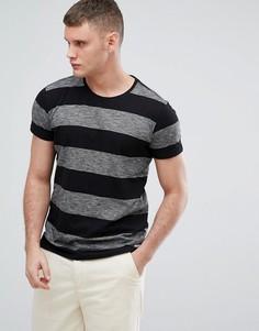 Черная футболка в полоску Lindbergh - Черный