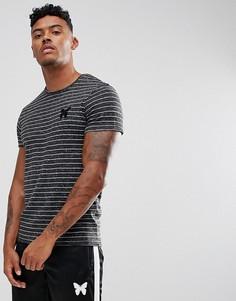 Черная обтягивающая футболка с полосками Good For Nothing - Черный