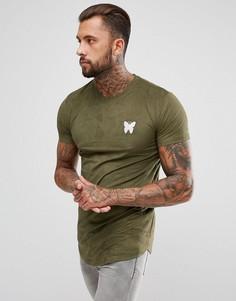 Обтягивающая футболка цвета хаки из искусственной замши Good For Nothing - Зеленый