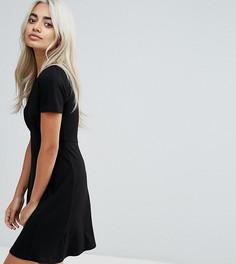 Чайное платье мини ASOS PETITE Ultimate - Черный
