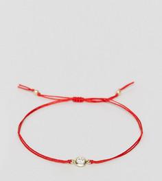 Браслет с кристаллом Swarovski эксклюзивно для Dogeared x ASOS - Красный
