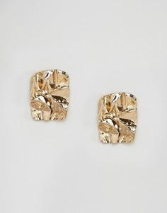 Фактурные металлические серьги ASOS - Золотой