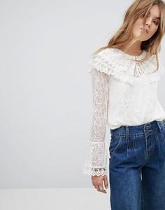 Кружевная блузка Moon River - Белый