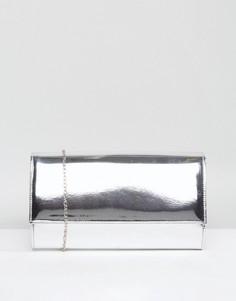 Клатч с эффектом металлик Chi Chi London - Серебряный