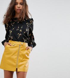Блузка с цветочным принтом Fashion Union Petite - Черный