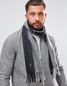 Черный шарф с добавлением кашемира и отделкой Fred Perry - Черный