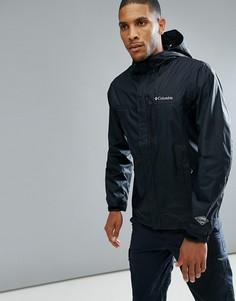 Черная непромокаемая куртка с капюшоном Columbia Pouring Adventure II - Черный