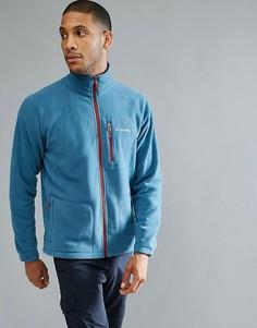 Темно-синяя флисовая куртка на молнии Columbia Fast Trek II - Синий