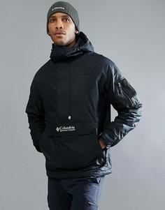 Черная утепленная куртка-пуловер с капюшоном Columbia Challenger - Черный