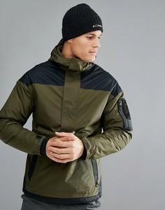 Черно-зеленая утепленная куртка-пуловер с капюшоном Columbia Challenger - Зеленый