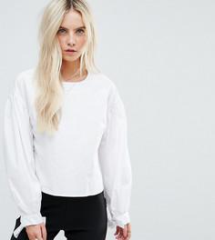 Свободная блузка с рюшами и завязками на рукавах Glamorous Petite - Белый