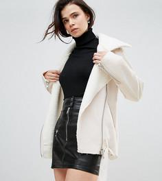 Куртка с искусственной овечьей шерстью Glamorous Tall - Кремовый