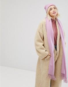 Oversize-шарф с бахромой Monki - Розовый