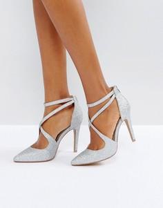 Серебристые туфли на каблуке Head Over Heels Cassy - Серебряный