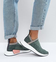 Кроссовки цвета хаки adidas Originals NMD Cs2 - Зеленый