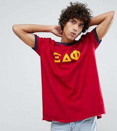 Бордовая футболка с принтом Reclaimed Vintage Inspired - Красный