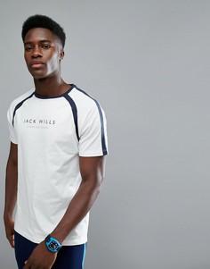 Белая футболка с рукавами реглан Jack Wills Sporting Goods Benstead - Белый