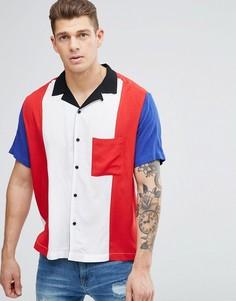 Рубашка классического кроя с отложным воротником и вставками Jaded London - Белый
