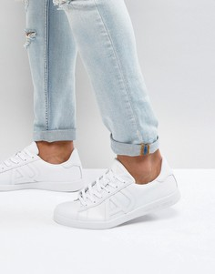 Белые кожаные кроссовки Armani Jeans - Белый
