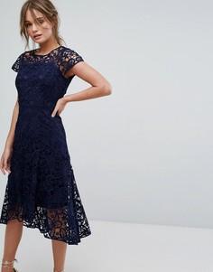 Кружевное платье Coast Candice - Темно-синий