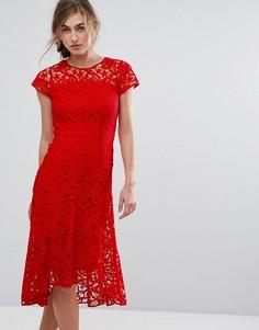 Кружевное платье Coast Candice - Красный