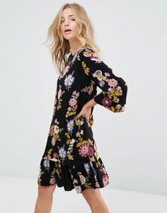 Свободное платье с цветочным принтом Vila - Мульти