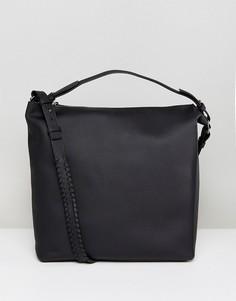 Кожаная сумка-тоут AllSaints - Черный